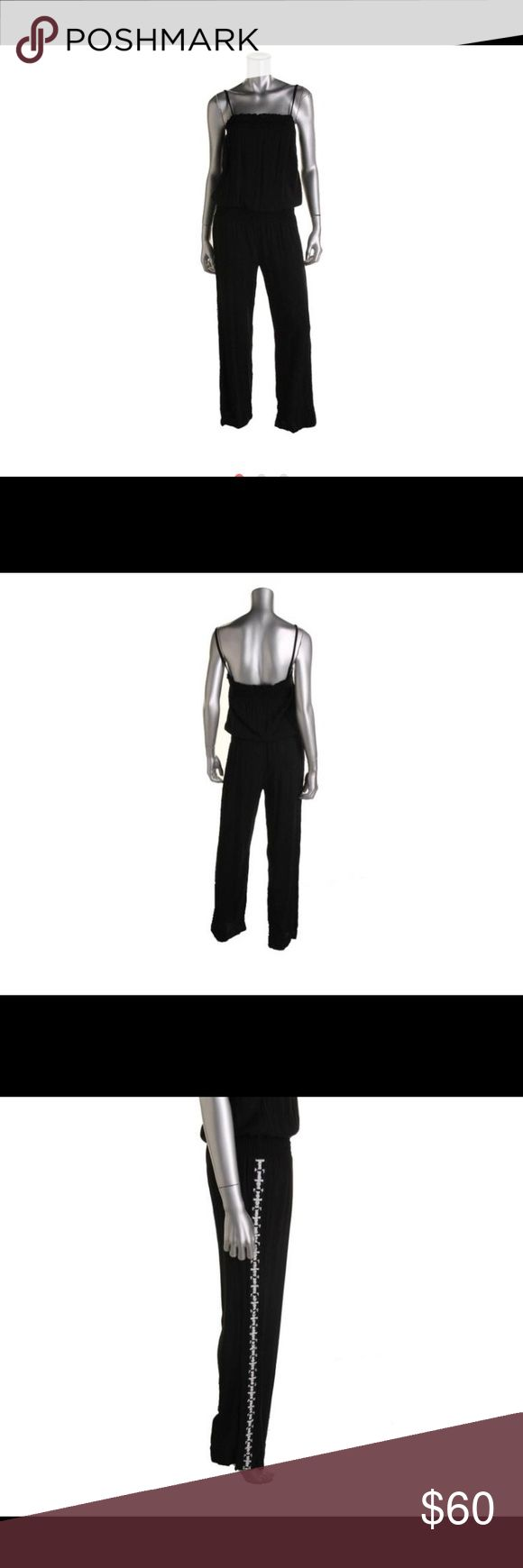 INC  Black-Ivory Beaded Strapless Smocked Jumpsuit INC  Black-Ivory Beaded Strapless Smocked Jumpsuit M  Size Origin: US  Manufacturer Color: Black  Condition: New with tags  Style Type: Jumpsuit  Collection: INC  Neckline: N/A  Sleeve Length: Strapless  Bottom Closure: Pull On  Waist Across: 14 Inches  Inseam: 31 Inches  Rise: 9 1/2 Inches  Bust Across: Inches  Material: 100% Rayon  Fabric Type: Rayon  Specialty: Smocked INC International Concepts Pants Jumpsuits & Rompers