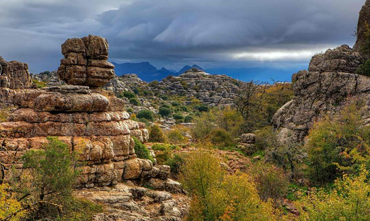 Rock formations  in the Torcal de Antequera
