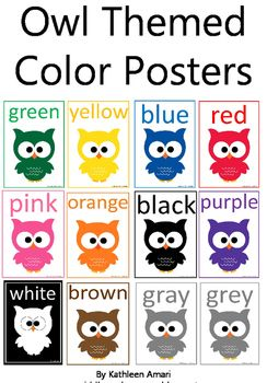 """Owl Themed Color Posters from the Owl Themed Classroom Set*Note: The white owl has a black backgroundOwl Themed Open House PowerPoint*Please rate me :)*Remember to """"follow"""" me for updates on my new items!The graphics used in this item are copyrighted and may not be used for your own commercial projects or given away to anyone else."""