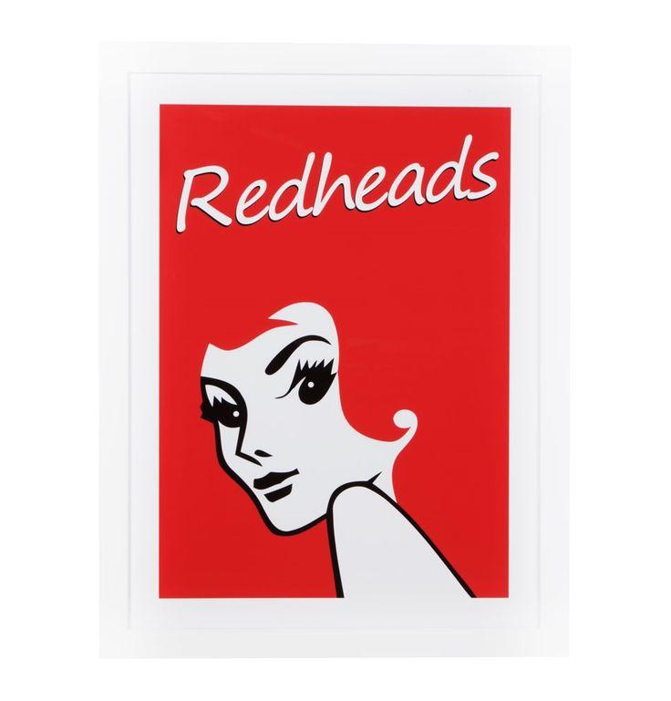 Vintage Redheads Framed Print - 68 x 87 - Matt Blatt