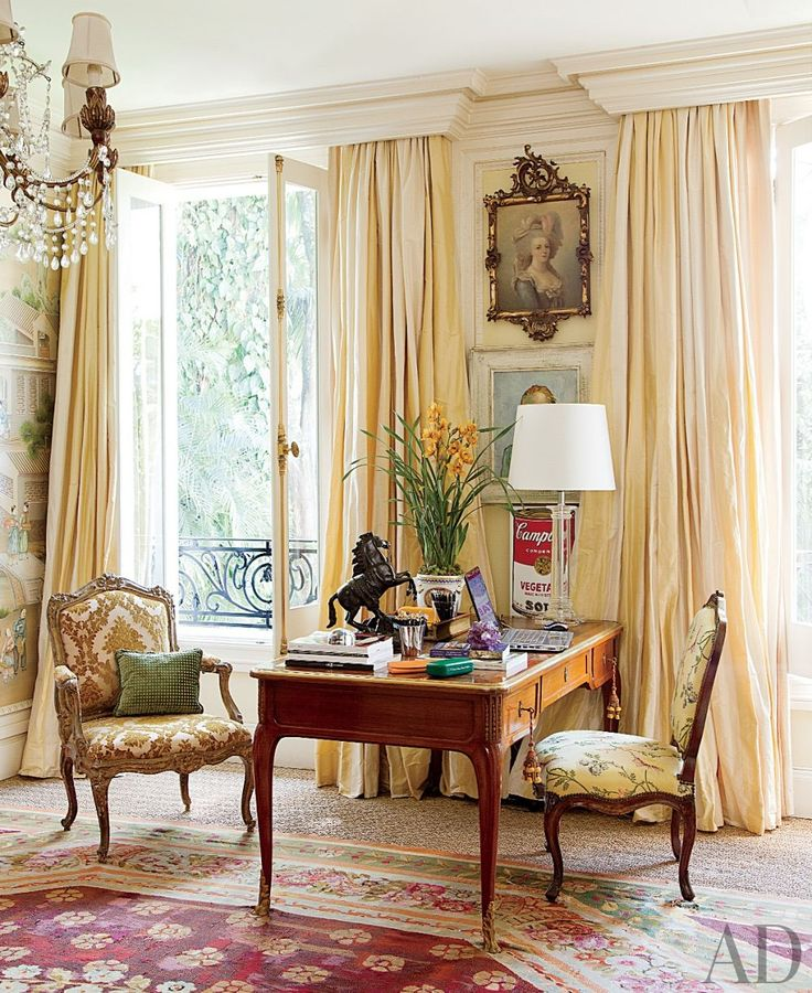 LOVE!  Style of draperies & molding above---gorgeous!
