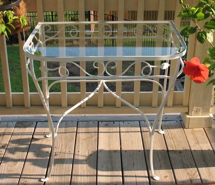 Salterini Demilune Table. Iron Patio FurnitureVintage ...