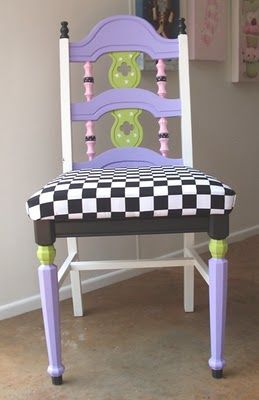 Love this funky painted chair!