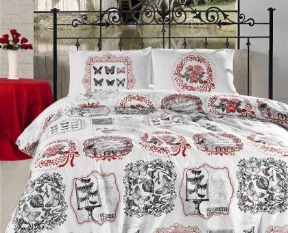 Купить постельное белье ALTINBASAK FARFALLA красное 70х70 1,5-сп от производителя Altinbasak (Турция)
