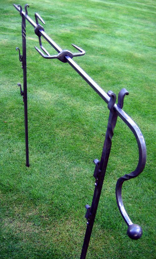 Forged roasting spit. I originally starting making these for medieval re-enactment group.