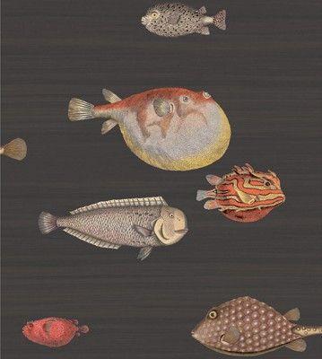 Cole & Son Wallpaper 97/10048.CS Acquario Black & Mult