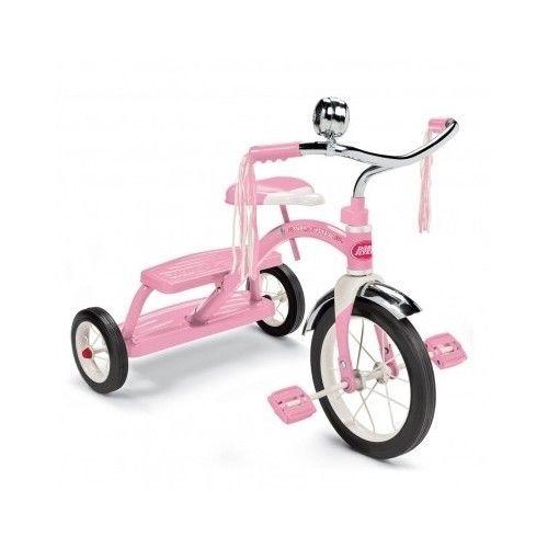 Radio Flyer Pink Tricycle Girls Toy Age 2-5 Kids Ride 12'' Front Wheel Free Ship #RadioFlyer