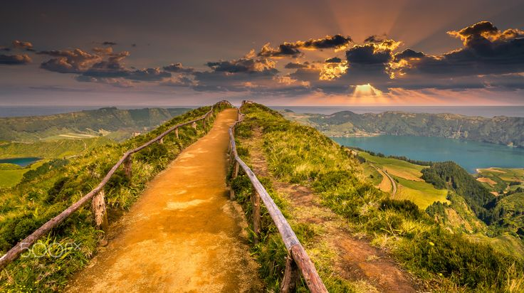 Path to Sunset - Exposure done in the Island of São Miguel, Azores, Portugal.