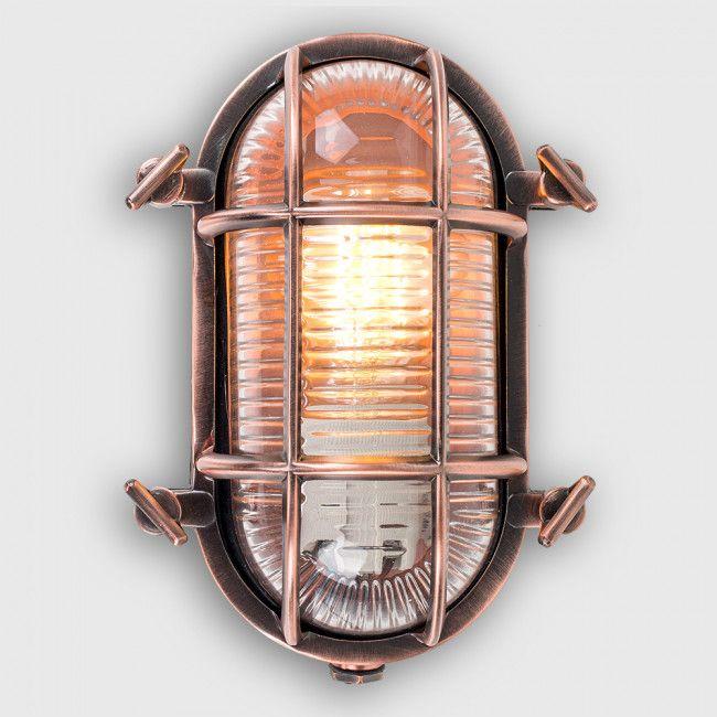 Copper Terrace Apartments: Bow IP66 Oval Copper Nautical Bulkhead