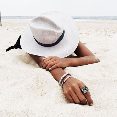 beach, summer, and hat