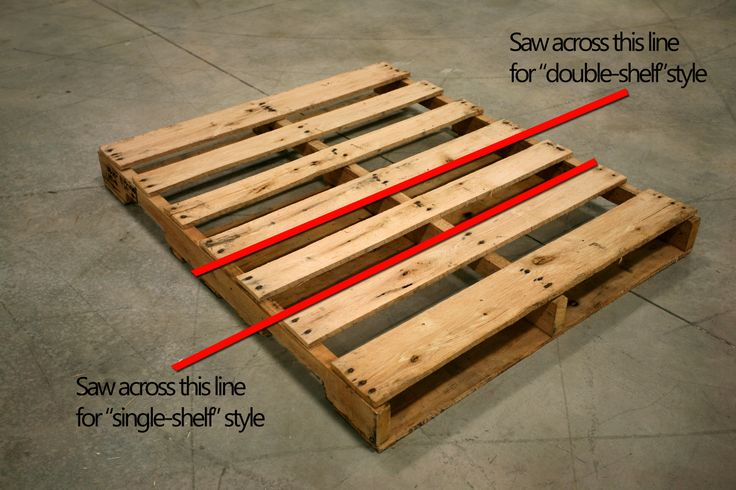 Crafts Made from Wooden Pallets | Here are the 2 standard options and their respective cutting locations ...