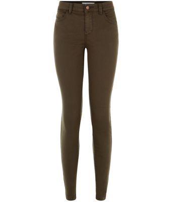 Khaki Twill Skinny Jeans | New Look