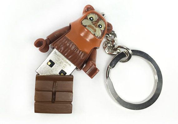 Hey, I found this really awesome Etsy listing at https://www.etsy.com/listing/230170942/lego-star-wars-wicket-ewok-usb-minifig