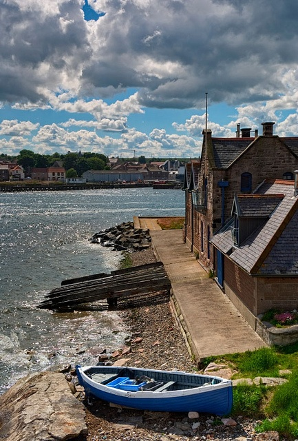 The old lifeboat cottage in  Berwick Upon Tweed. This Town was the Birthplace of My great great great great great grandfather William Patterson who came to Canada in 1837.
