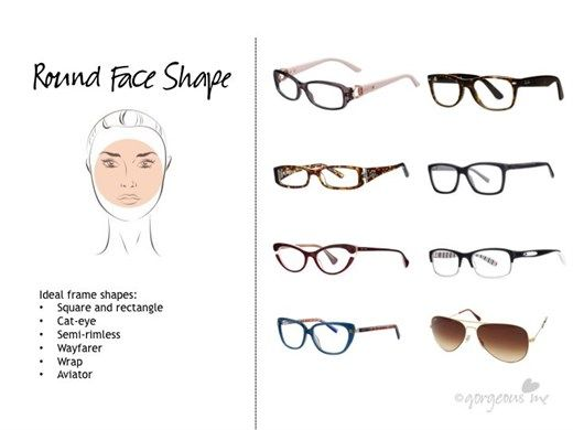 Gorgeous Me - Glasses For Round Face Shape