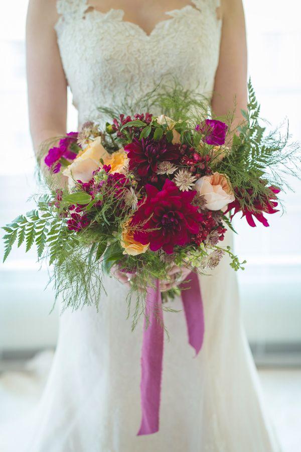 burgundy wedding bouquet - photo by Alyssa Turner Photography http://ruffledblog.com/wedding-inspiration-with-a-vintage-english-theme #weddingbouquet #winterwedding #bouquets