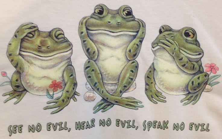 See Hear Speak No Evil Frogs Adult 3XL XXXL by AlwaysInStitchesCo on Etsy