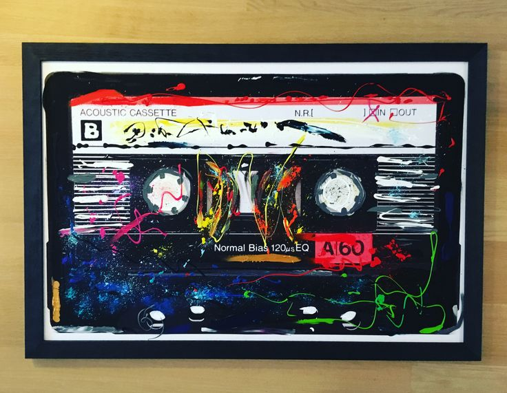 MY FAVORITE TAPE, 87 x 125, monoprint, acrylic paint on canvas, framed