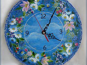 """Часы """"Венок в облаках"""" - Ярмарка Мастеров - ручная работа, handmade"""