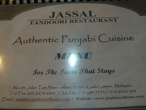 Jassal Tandoori Restaurant - good indian food but abit pricey