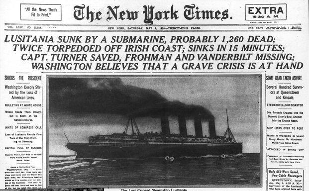 On May 7, 1915, the German submarine (U-boat) U-20 ...
