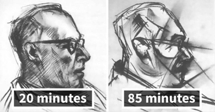 Government Conducts Experiment Giving LSD Drugs to Artist and Asking Him to Draw the Same Portrait 9 Times - artFido's Blog