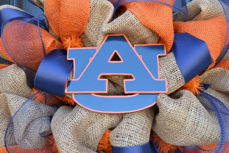 Universidad+de+Auburn+corona+en+arpillera++por+CreationsbySaraJane,+$95,00