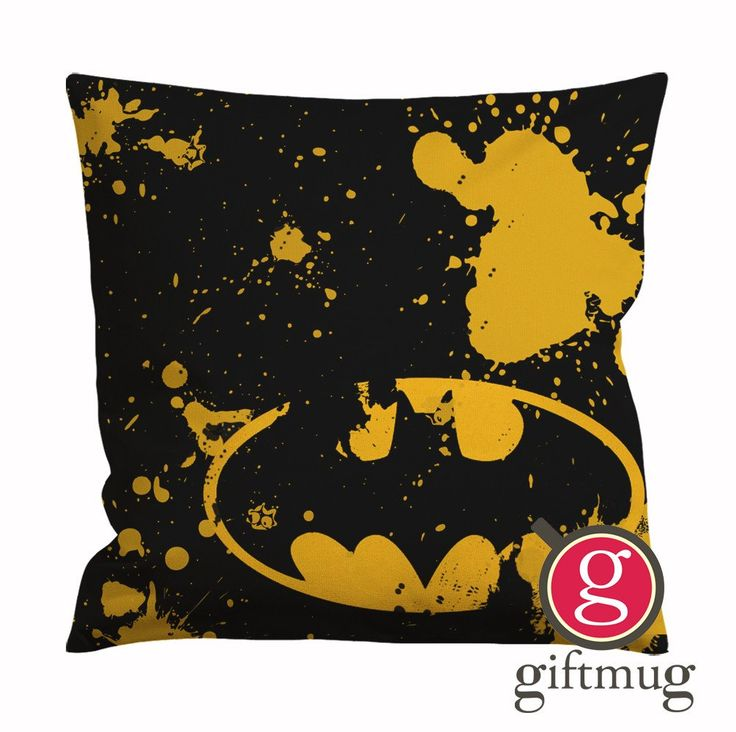 Classic Batman Logo Cushion Case / Pillow Case