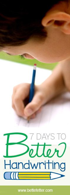 Does your child have bad handwriting? Are you looking for some ideas for handwriting practice? I have just the thing for you. I have created a 7 day program that gets results!
