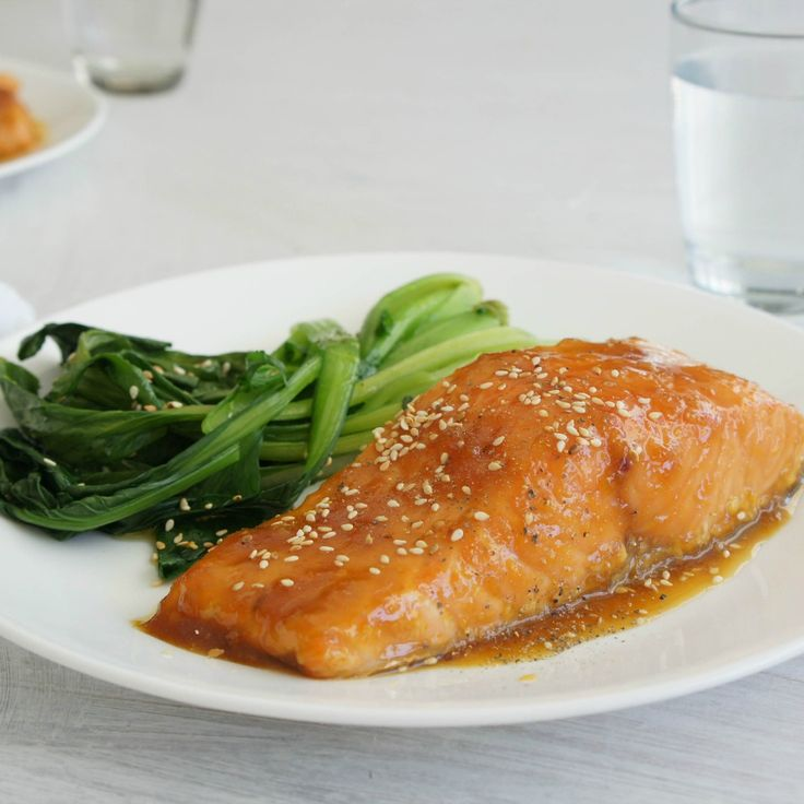 """#RecipeoftheDay: Salmon with a Maple Syrup Ginger Glaze by moggybear -""""This recipe is simply sensational!"""" - Lizzy69"""