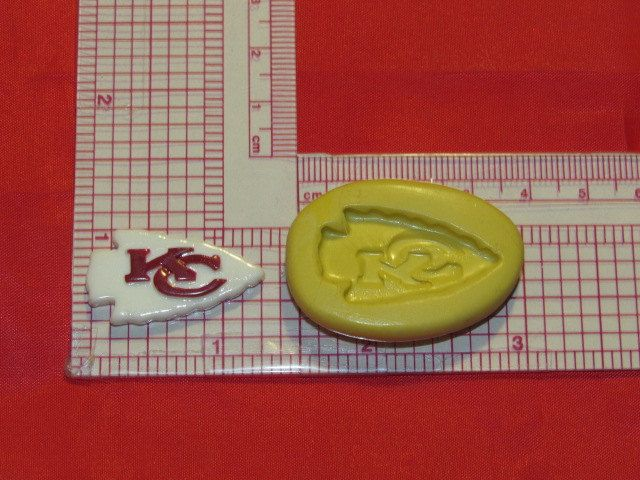 NFL Football Kansas City Chiefs Logo Silicone Push Mold 936 Chocolate Candy Wax Soap by LobsterTailMolds on Etsy