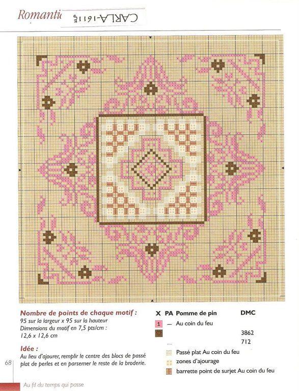 Biscornu, pincushions, GUARDATIJERAS, .... A FIST CROSS | craft is facilisimo.com Learning