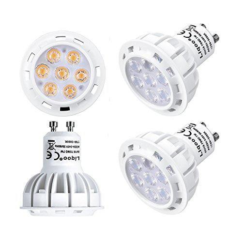 Oferta: 14.99€. Comprar Ofertas de Liqoo® 4x 7W Bombillas LED GU10 Lámpara Bajo Consumo Blanco Cálido 2800K AC 220-240V 560Lumen Reemplaza 50 W, 45º ángulo del barato. ¡Mira las ofertas!