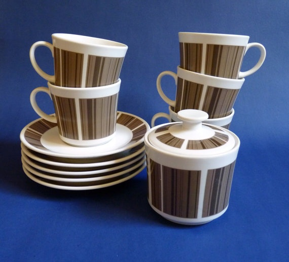 Noritake Progression Newel 9008 Coffee Set by FoxandThomas on Etsy, $35.00