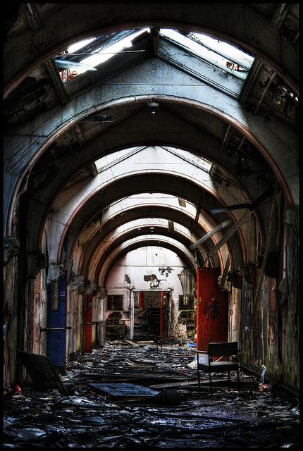 Whittingham Asylum, once the largest asylum for the insane in England