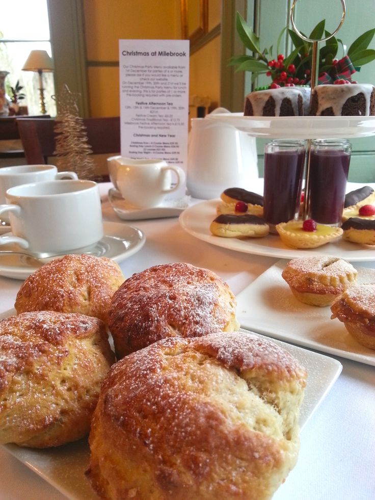 Milebrook House Hotel Christmas Afternoon Tea. Country House Hotel near Knighton on the borders of Shropshire & Powys