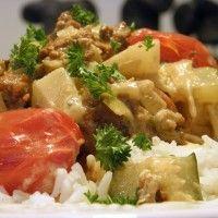 Gehakt in kokos-ananas saus : Recepten van Domy