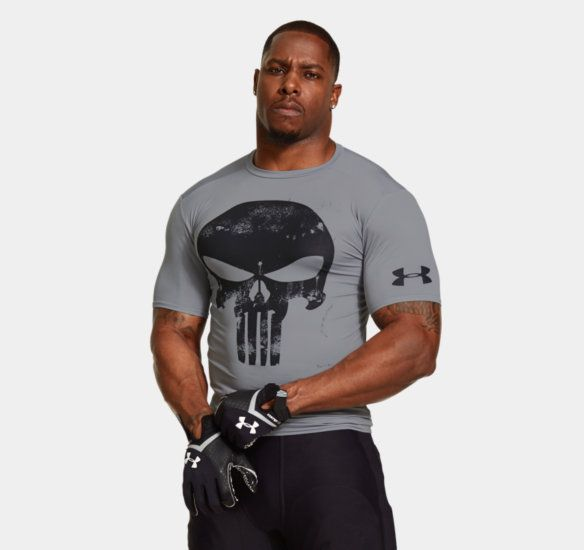 Men's Under Armour® Alter Ego Punisher Team Compression Shirt *SHIP DATE 8/15/14 | 1255039 | Under Armour US   MARVEL LICENSE