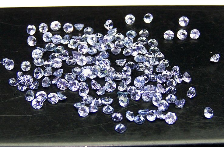 Masterpiece Natural Tanzanite 2 MM Round Cut Loose (10) Gem Lot / Parcel AAA NR