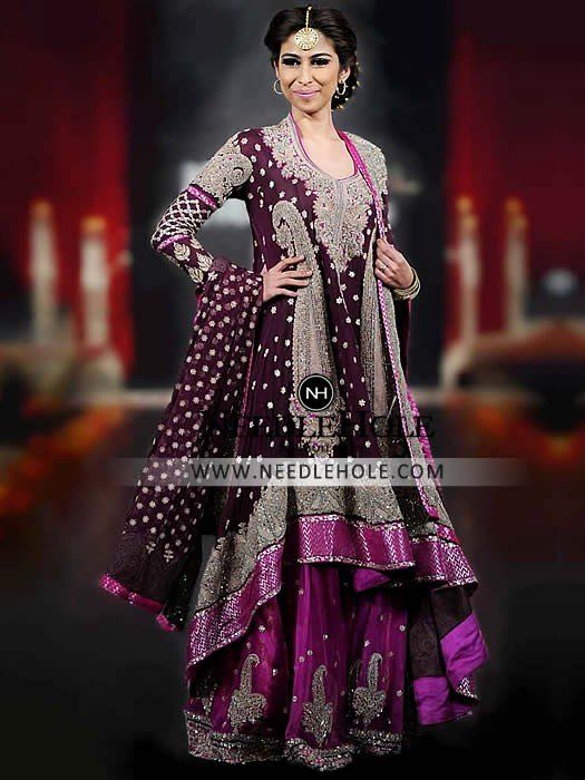 Shop Pakistani Wedding Lehenga Online By House Of Umar Sayeed. This Magnanimous Bridal Lehenga Dress For Your Special Day Find Bridal Dresses Online at Needlehole.com