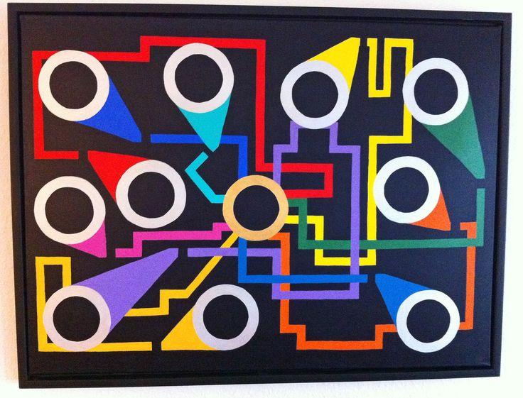 "Titel ""Rabbithole""  80x60 cm. Acrylic Colors"