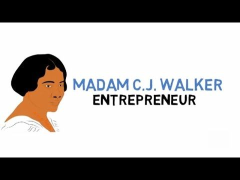 Madam CJ Walker for Kids (Fun Facts) Cartoons for Kids (Educational Videos for Students) - YouTube
