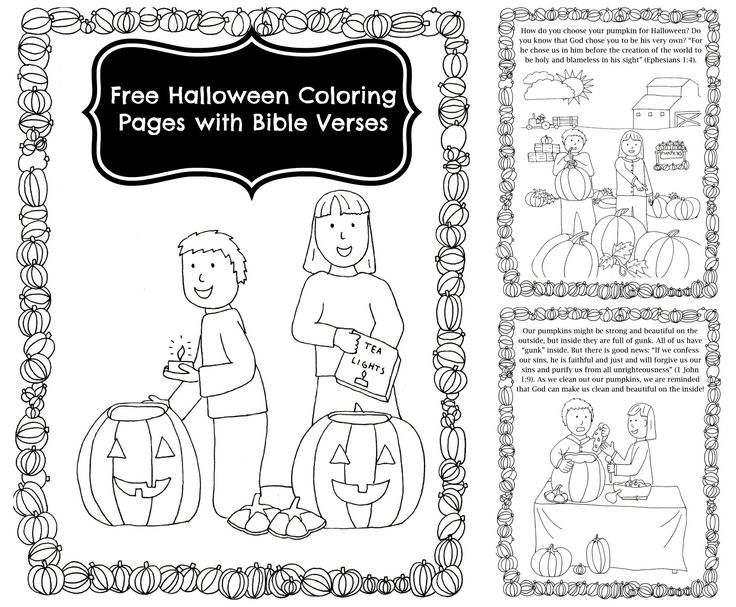 halloween sunday school coloring pages - photo#8