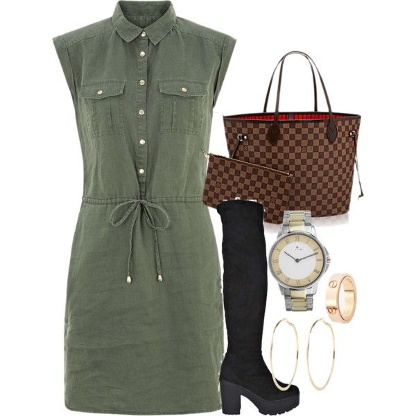 A fashion look from September 2015 featuring Boohoo boots, Jacques Lemans watches and River Island earrings. Browse and shop related looks.