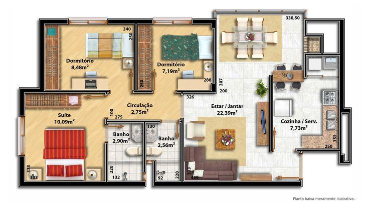 Tamanho ideal para os cômodos da casa