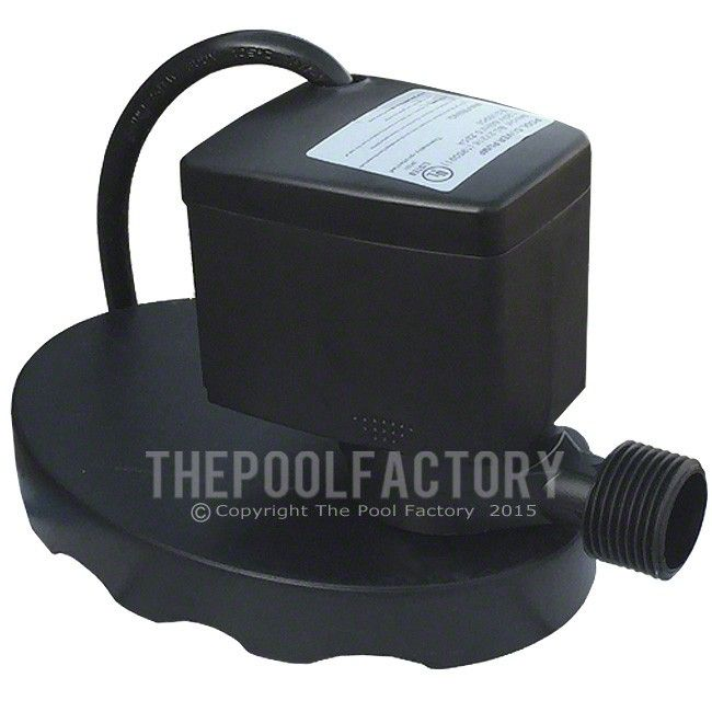 The Ocean Blue cover pump is an electric pool cover pump specifically designed for removing water off the top of pool covers. The pump is equipped with a garden hose adapter, a standard garden hose should be attached to this adapter and be used to direct waste water away from pool. The cover pump includes an easy clean pre-filter pad designed to prevent debris from clogging the pump.