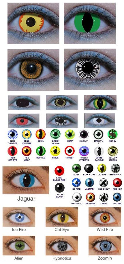 Crazy Contact Lenses for Halloween, love love love crazy contacts!!! :D so much!  Jake's favorite was hypnotica and white out!