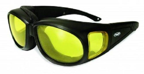 Global Vision Outfitter Motorcycle Glasses (Black Frame/Yellow Lens)