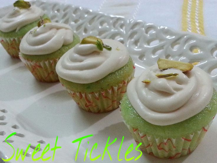 coconut burfi cupcake with rabri frosting.