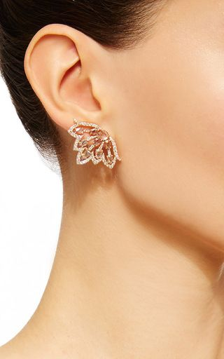 Diamond Butterfly Earrings by SUTRA for Preorder on Moda Operandi